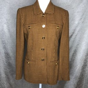 Escada Margaretha Ley Houndstooth Suit 6US/38EU
